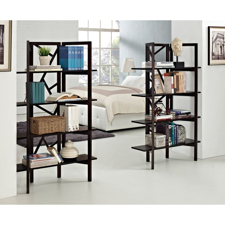 Altra Indo Room Divider Bookcase Cherry From Hayneedle