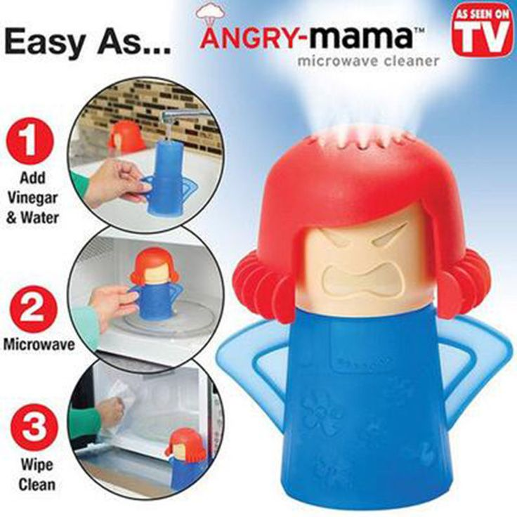 As seen on TV Angry mama Microwave Oven Steam Cleaner With Vinegar and water #TransHome