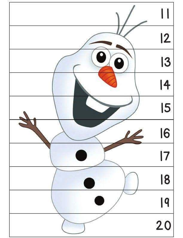 frozen snowman  number sequence puzzles