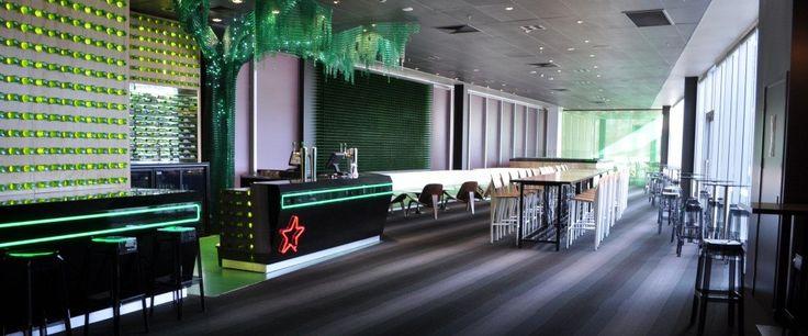 Vector Arena Heineken Bar, Auckland: Gradient carpet tile from Irvine Flooring