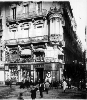 1920 Almacenes Santa Eulalia. Barcelona