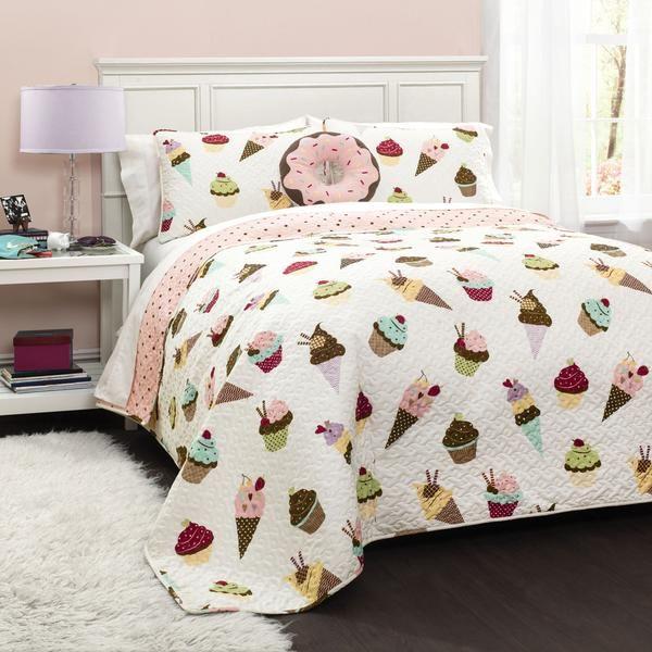 cupcake ice cream quilt 4 piece set