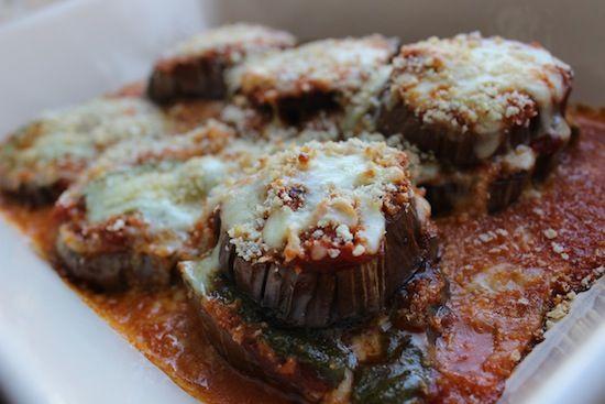 Light Pesto Eggplant Parmesan... YUM!