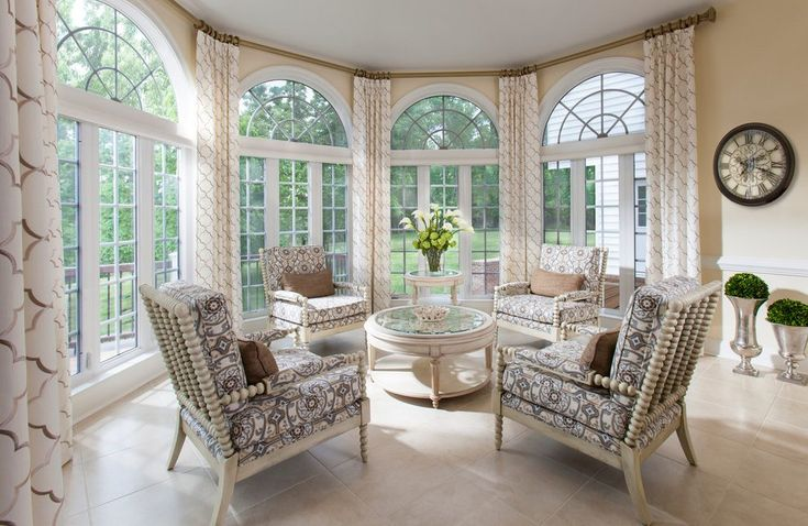 arched window treatments sunroom traditional with metal floor vase armchairs and accent chairs