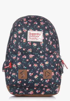 Stem Floral Montana Navy Blue Backpack A smart choice for girls,  thisbackpack from Superdry will