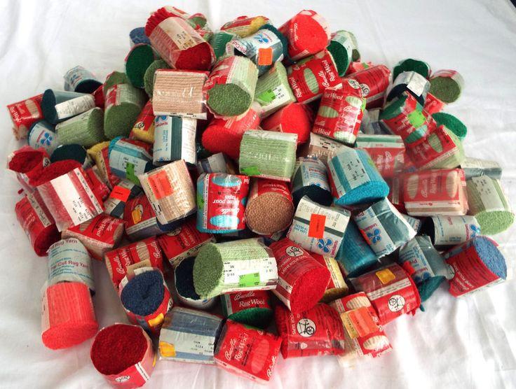139 Packs Wool Rug Yarn Latch Hook Vintage Bucilla Lee Wards Bouquet Carpette…