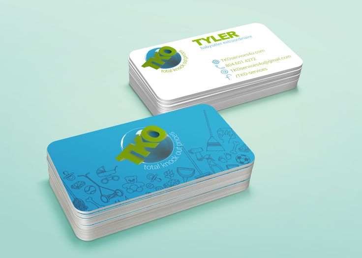 business card mockup-TKO services