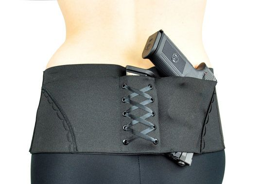 The BigSheBang! Lower Back Concealed Carry Gun Holster for Ladies.