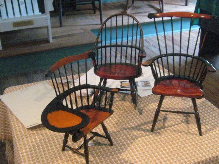 Windsor type miniature chairs