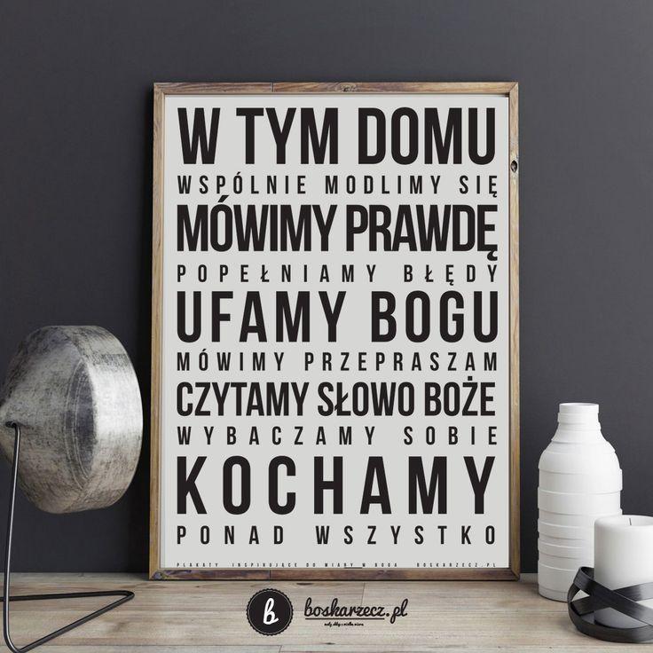 Plakat  do domu dla wierzącej rodziny