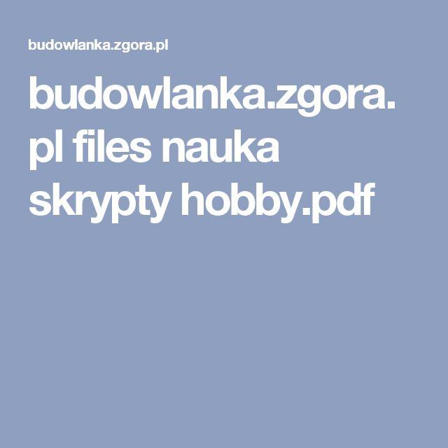 budowlanka.zgora.pl files nauka skrypty hobby.pdf