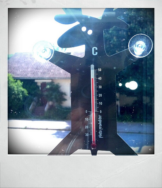 Moose thermometer by Pluto Produkter. And also an evidence that Finland can be hot on summer :o)