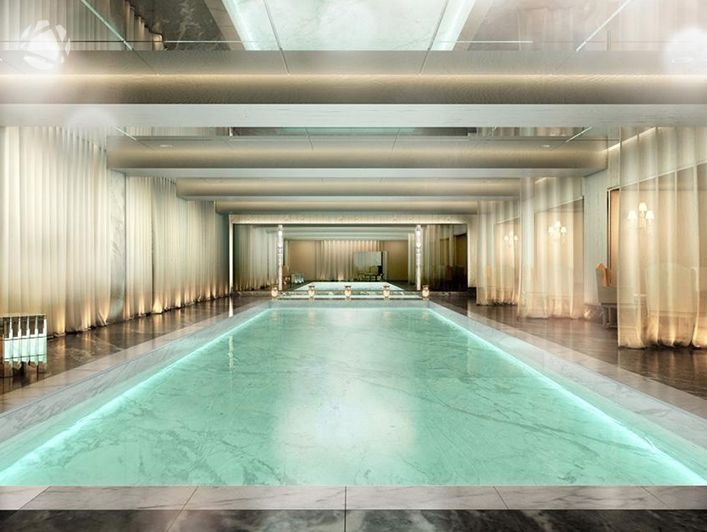 Indoor marble lap pool | New York City