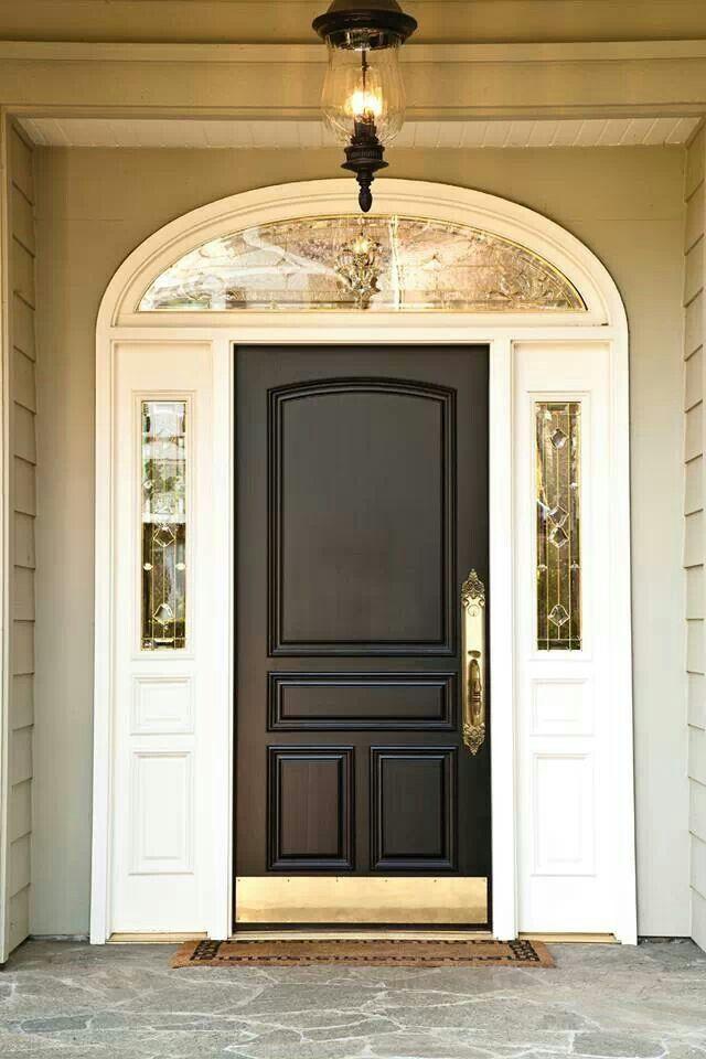 Gold brass kick plate home rehab pinterest kick for Nameplate for home main door