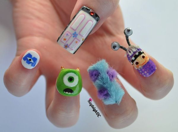 My Little Pony, Game Of Thrones And Monsters, Inc. Nail Art