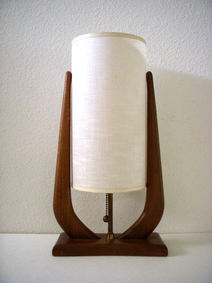 Mid Century Danish Modern Teak Lamp by Om Again Vintage https://www.