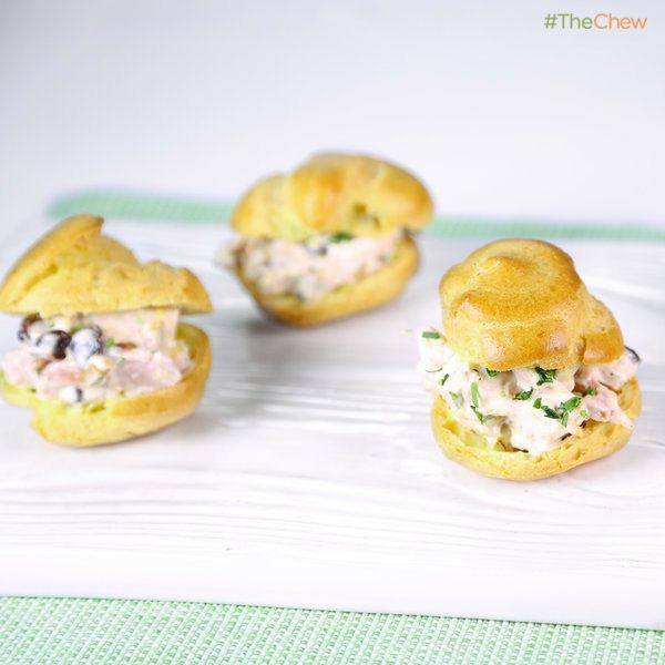 Baby Chicken Salad Puffs by Clinton Kelly #TheChew #BabyShower # ...