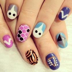 @djkyokoのNEW Nail☆☆今回は#エヴァンゲリオン のモチーフを描きましたYO!  #nail #nails #nailart #nailarts #nailartclub #nailspot_anela #ネイル #ネイルアート #handpaint #手描きアート #paintart #art #hana4
