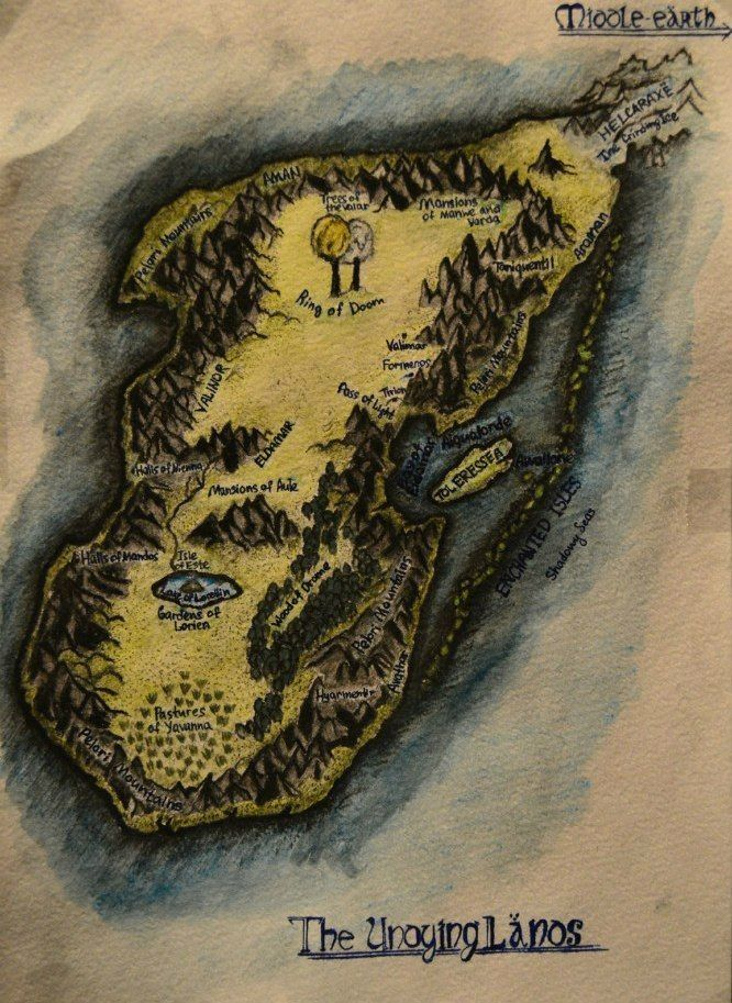 Map of Valinor (The Undying Lands) by StanislawRem.deviantart.com