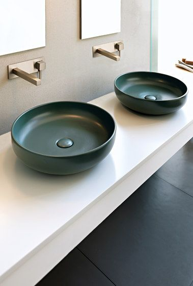 On Top Bowl Anthracite Finish Shui   Basin Colored Bathroom Ceramica Cielo