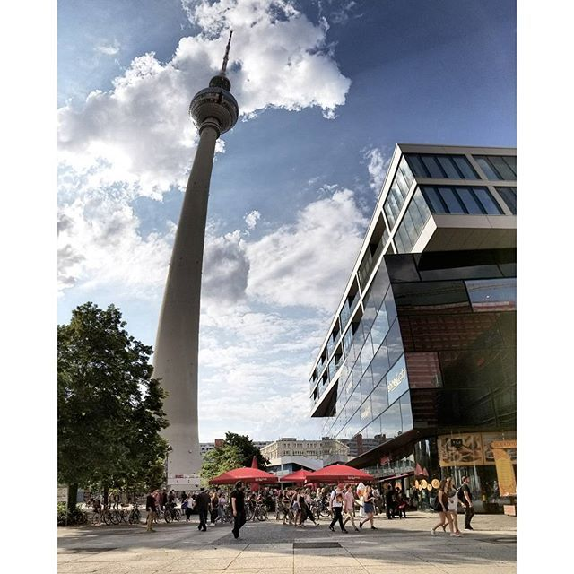 Berlin TV Tower.  .  .  .  .  .  .  .  .  .  .  .  .  .  .  .  .  .  .  .  .  .  .  .  #berlin#city#germany#amazingview#traveling#exploring#tavelgram#iloveberlin#perfection#antena#europe#roadtrip#summer2017#berlingermany#sky#clouds