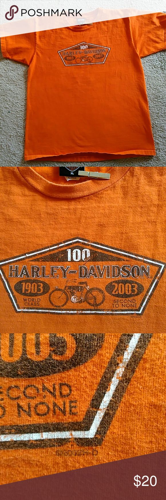 XL Harley Davidson T-Shirt 100 year anniversary Harley shirt XL from Part, TX.  Nice condition used shirt. Harley-Davidson Shirts Tees - Short Sleeve