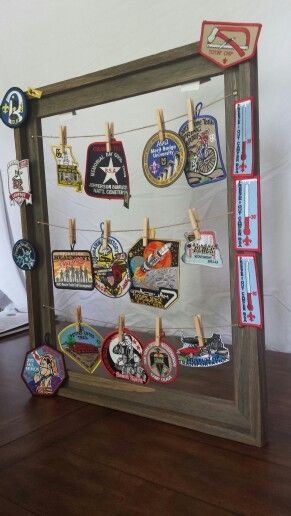 No sew way to display patches for Brian's eagle court of honor.