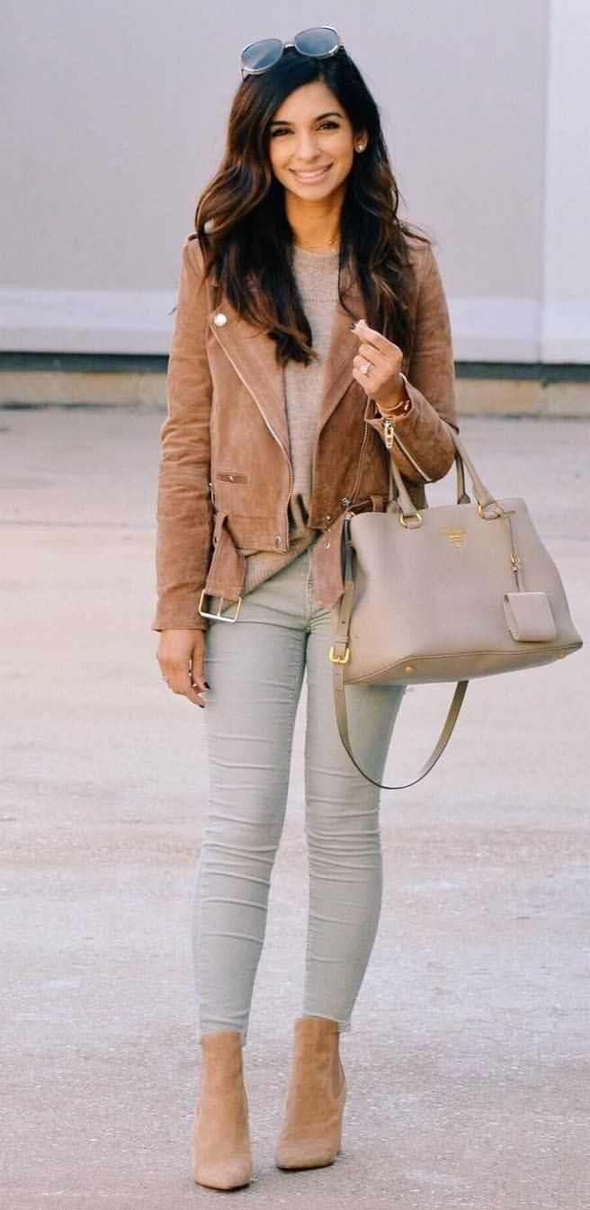 fancy brown sweater outfits 13