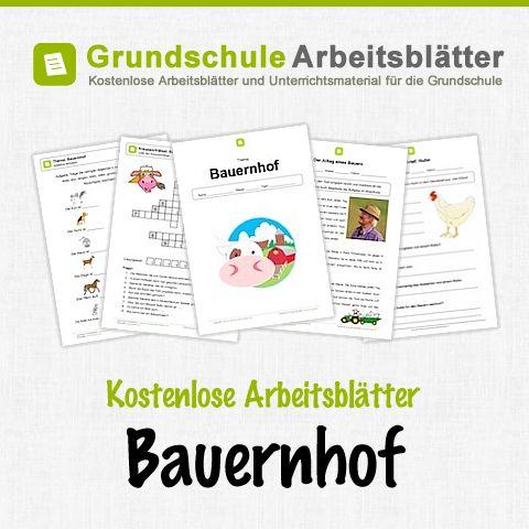 Kostenlose Arbeitsblätter und Unterrichtsmaterial für den Sachunterricht zum Thema Bauernhof in der Grundschule.