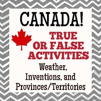 A fun and informative set of three social studies activities for students studying Canada's geography and people; the activities are challenging enough for Canadian students and a great way to introduce the country to students elsewhere. There are fifteen facts provided on each topic with a second follow up statement.