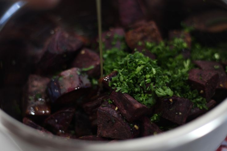 These roasted purple yams with maple butter are like side dish candy. You'll want to lick the plate after having these!