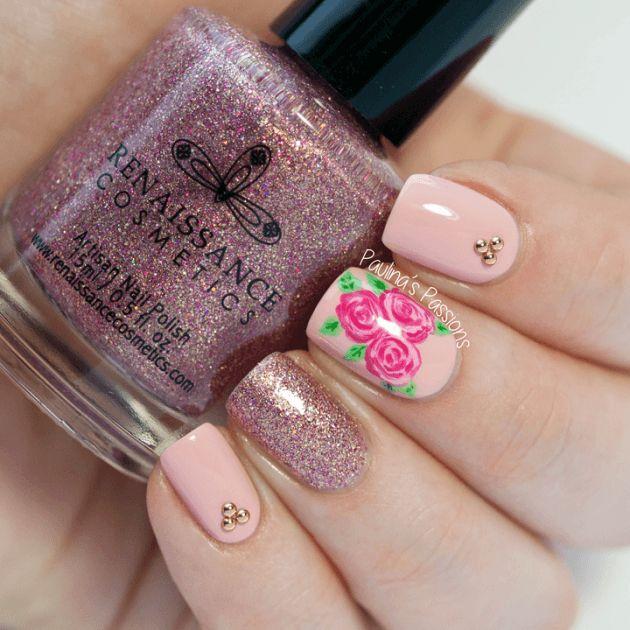 Diseños de Uñas en color Rosa 3