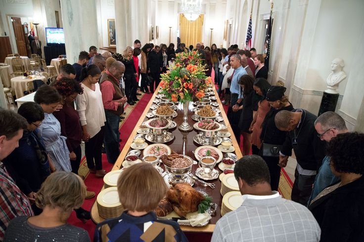 "Behind the Lens: 2016 Year in Photographs – Thanksgiving in the Obama white house. look at all those lovely persons of color in the room who are there as guests instead of ""Help!"""