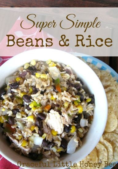 Beans and rice doesn't have to be boring! Here's my version of this extremely frugal and versatile recipe.