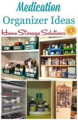 7+ medication organizer ideas and storage solutions for medicines and first aid supplies in your home. When you've got too much, it's time to organize! :)