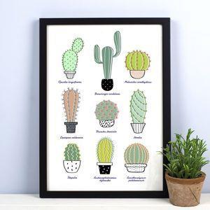 Cactus Print | Pinterest | Cactus print, Cacti and Cactus decor