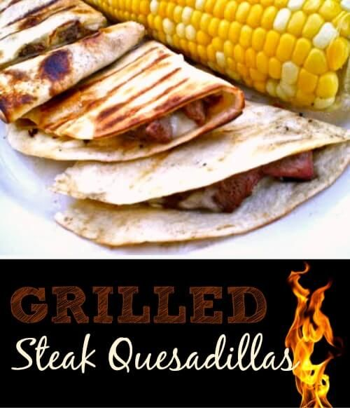 "I love steak quesadillas but I can't say that I have actually grilled them before. Now that I have grilled them I may never go back to the ""old"" way."