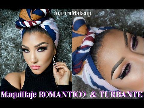 Maquillaje ROMANTICO & Turbante SAN VALENTIN/ VALENTINES makeup tutorial & turban | auroramakeup - YouTube