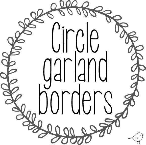 Circle garland borders {free download} | Pure Sweet Joy