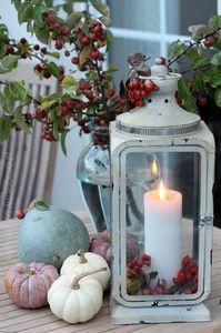 Gemütlich ist es im Herbst, wenn es anfängt zu dämmern... ein paar Kerzen anzünden und hinaus in den herbstlichen Garten schauen