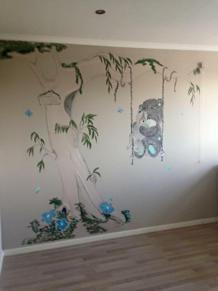 Me to you muurschildering by joan of arts