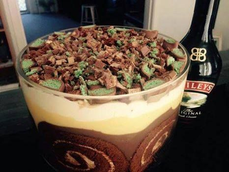 You won't be able to wait to make this amazing NO BAKE Baileys Trifle! It's the ultimate AO dessert.