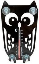 Onko jo pakkasta? Pöllö lampömittarin voi laittaa joko ulos tai sisälle, koska imukuppien suuntaa voi muuttaa.