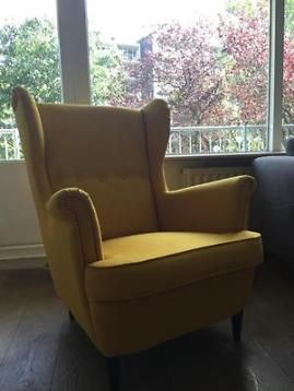 Strandmon fauteuil IKEA geel