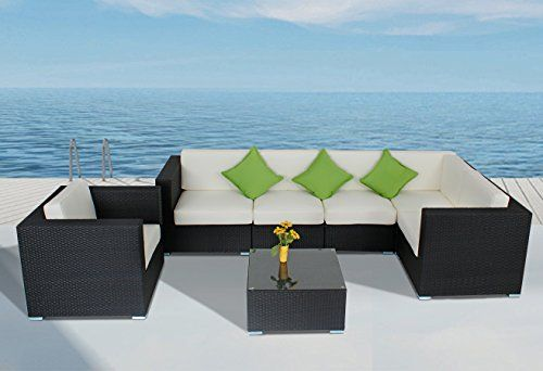 Best See Outdoor Furniture Patio Rattan Sofa 8 Piece Sectional 400 x 300