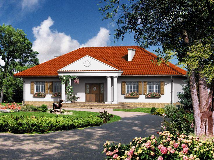 DOM.PL™ - Projekt domu Dom przy Zamkowej CE - DOM EB1-38 - gotowy projekt domu