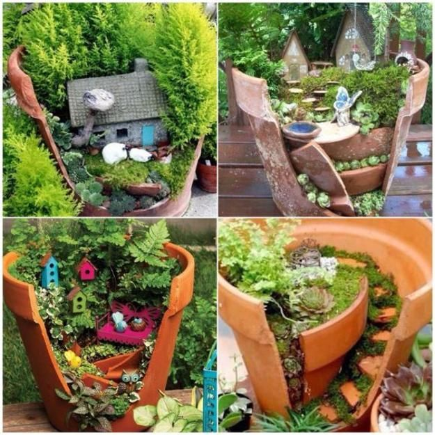 33 miniature garden designs fairy gardens defining new for Garden design ideas with pots