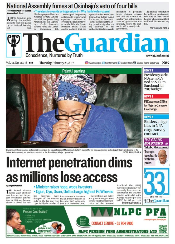 Nigerian Newspapers Headlines For Today 23 February 2017