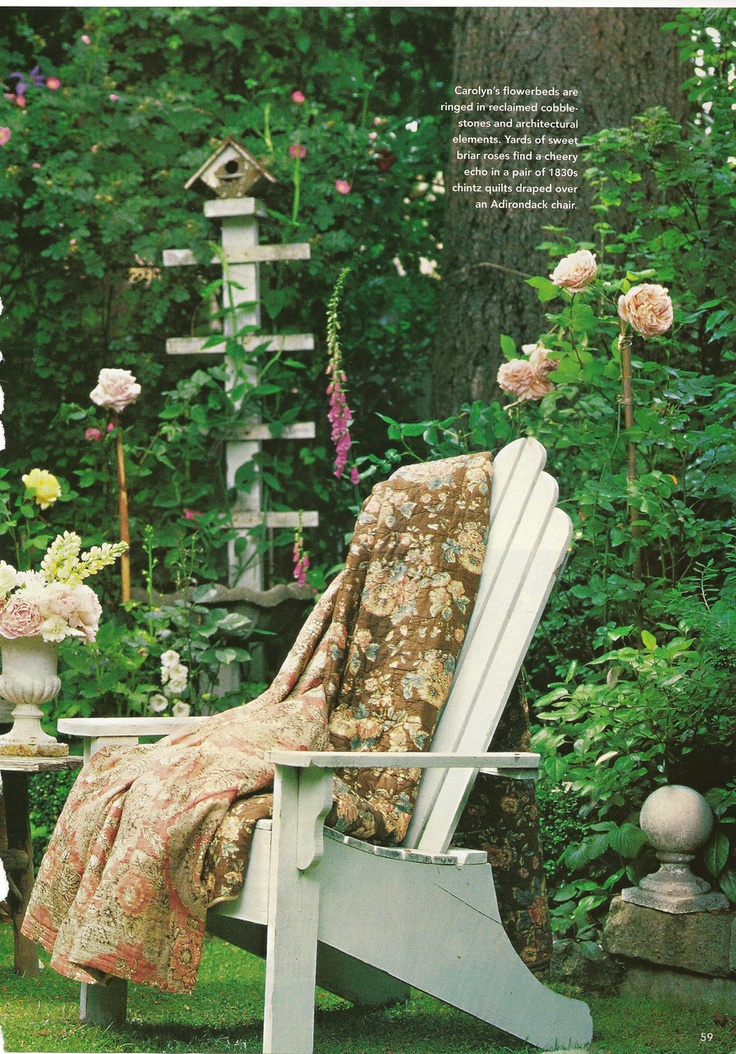 Enjoy The Garden And Keep Warm · Shabby Chic ...