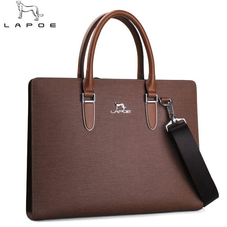 LAPOE Brand man's bag briefcase leather business bag handbag men maletin hombre bolsa masculina pasta executiva masculino